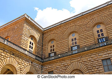 Palazzo Pitti, biggest palace in Florence Italy