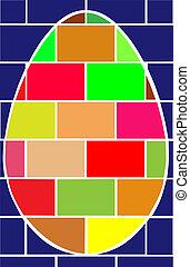 Easter cubic egg