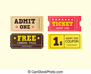 Vintage cinema tickets - On movie or to Theatre Use my...