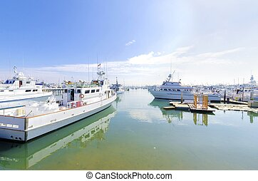 Point Loma, San diego - The Shelter island Marina in Point...