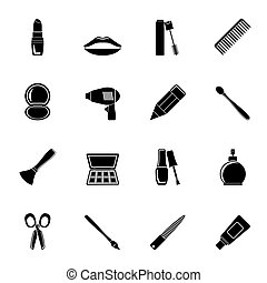 make up and hairdressing icons