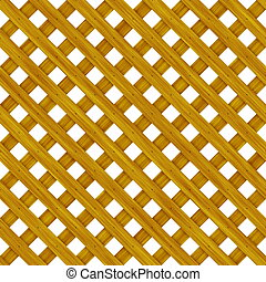 Wood Lattice Background Pattern in Brown Cane