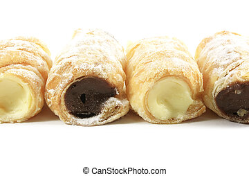 Cream Filled Horn Pastries
