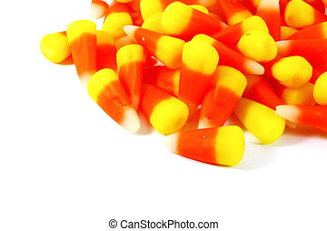 Candy Corn Isolated on a White Background