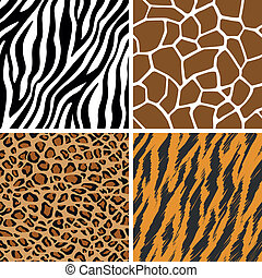 Animal Set Seamless Pattern - A set of animal seamless...
