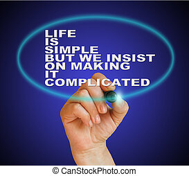 life is simple but we insist on makingit complicated -...