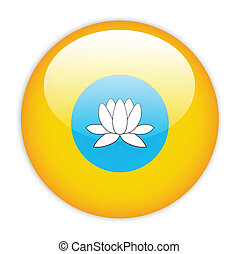 Kalmykia flag button