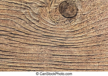 Old Rough Textured Knotted Plank - Old, coarse textured,...