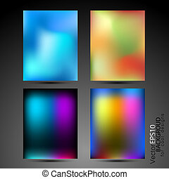High tech abstract backgrounds collection for business cards...