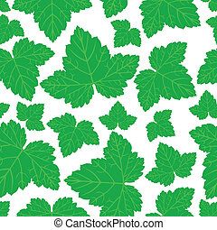Currant leaves pattern seamless