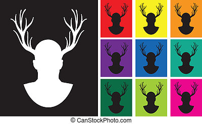 the stag silhouettes