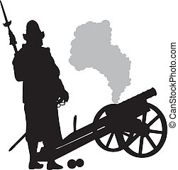 Conquistador. Warriors Theme - Conquistador with cannon...