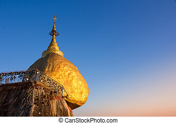 Kyaiktiyo Pagoda also called Golden rock in Myanmar