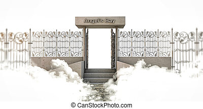 heaven gate isolated on white background