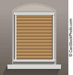 Window Shutters Let Down - Window Shutters that are let...