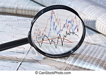 Magnifier and share prices - Magnifier shows the variation...