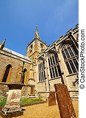 Holy Trinity church, Stratford. - Gravestones with the Holy...