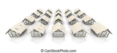 Settlement - 3D Illustration.