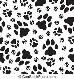 Seamless pattern of cats trails - Seamless pattern of black...