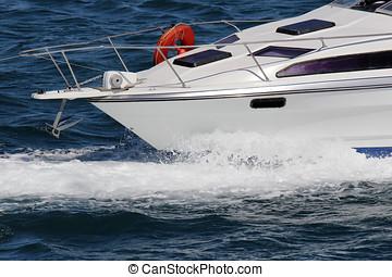 Speedboat on sea