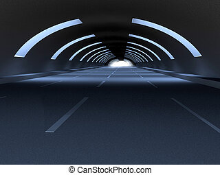 Tunnel - 3D Illustration