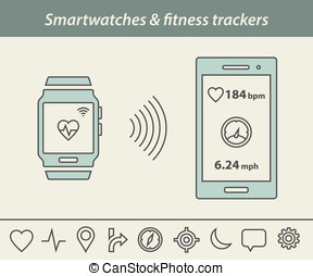 Smartwatch and fitness tracker - Fitness tracker and...