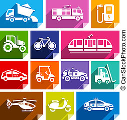 Transport flat icon, bright color-04