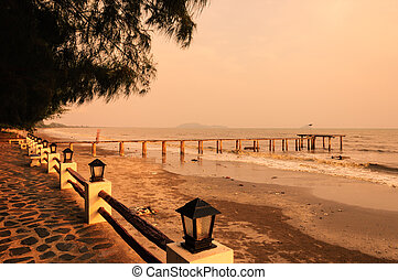 old small pier on Chantaburi, Thailand
