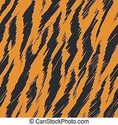 Tiger Stripes Skin Seamless Pattern - A seamless pattern of...
