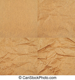 Cheap brown packaging paper - Creased cheap brown packaging...