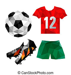 polygonal soccer uniform