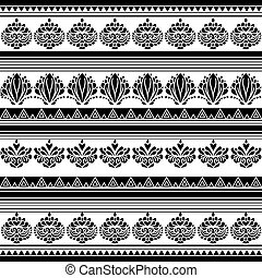 Abstract aboriginal floral pattern