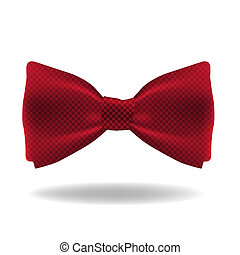 Illustration of realistic red bow with pattern