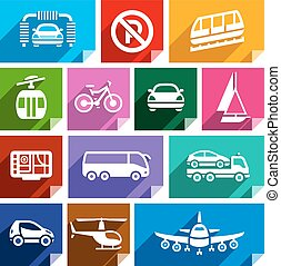 Transport flat icon, bright color-06 - Transport flat icons...
