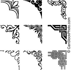 corners - set of ornamental corners in different style