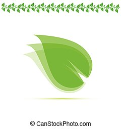 leaf green vector