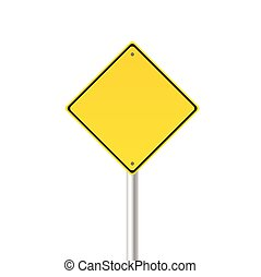 yellow traffic sign vector illustration