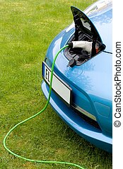 Charging an electric car - Charging a modern electric car