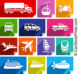 Transport flat icon, bright color-07 - Transport flat icons...