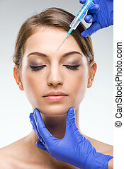 Beautiful, flawless female face - plastic surgery, injections