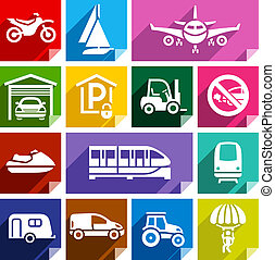 Transport flat icon, bright color-08 - Transport flat icons...