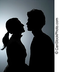 Couple Silhouette - Two People in Silhouette