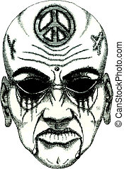 tattoo daemon face without eyes