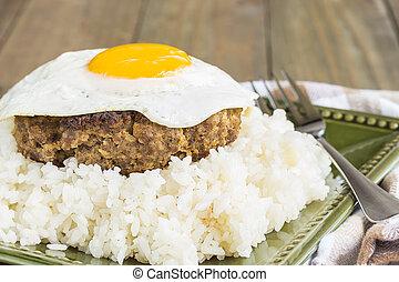 Teriyaki Loco Moco - Loco Moco, a traditional Hawaiian dish...