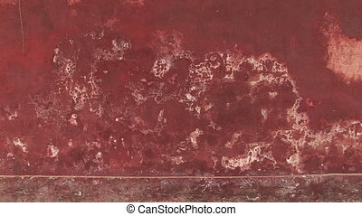Weathered Red Wall - Weathered red wall, White Cloud Temple,...