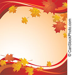 Red autumnal background
