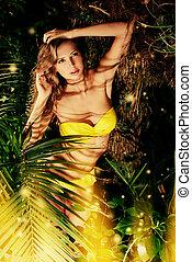 adventure - Beautiful sexual young woman in bikini in the...
