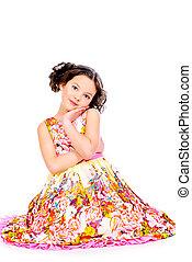 little belle - Pretty smiling girl in a beautiful summer...