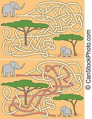Elephant maze