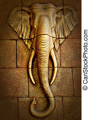 Stucco of elephant